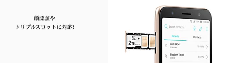 mineo(マイネオ)で買えるZenFone Live (L1)(ゼンフォーン)には2枚のSIMカードとmicroSDが入る