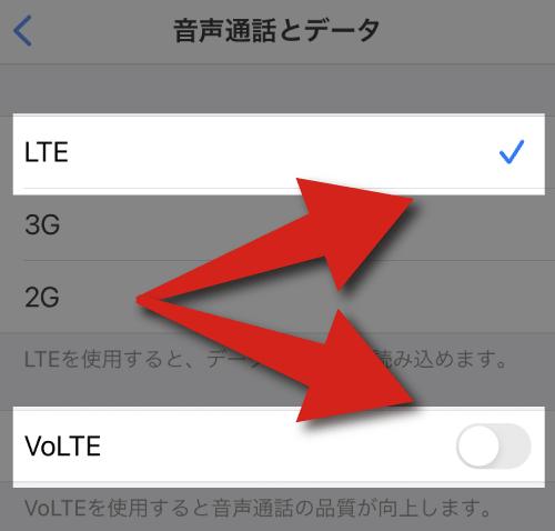 楽天モバイルをiPhoneにインストールで「LTE」と「VoLTE」を確認。